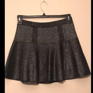 High waisted, shimmery, sparkly skirt